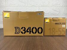 Nikon D D3400 24.2 MP Digital SLR Camera Black (Kit w/AF-P DX 18-55mm Lens) MINT