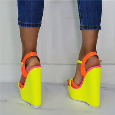 Womens Wedge Sandals Open Toe High Heel Platform Casual Shoes Pump Ankle Straps