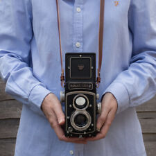 TLR Leather camera neck / shoulder strap, Rolleicord, Rolleiflex , Yashica Mat