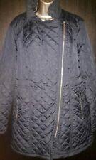 Kaleidoscope Longline Quilted Biker Coat Size 16 Navy Blue Winter/womens/new