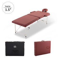 Massage Table Bed 2 Section Spa Couch Portable Adjustable