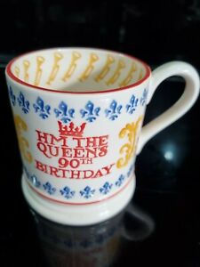 Emma Bridgewater Half Pint Mug - The Queen's 90th Birthday 2016 -  New