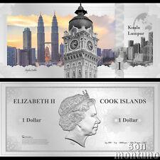Skyline Note KUALA LUMPUR - Flexible 5 Gram Silver Dollar - 2017 Cook Islands $1