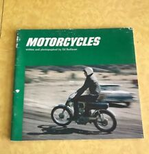 MOTORCYCLES Ed Radlauer Vintage Softcover 1971 Car Book Kids RACING CHOPPER DIRT