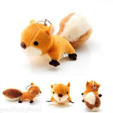 Cute Squirrel Animal Plush Toys Woman Bags Charm Key Chain Phone Pendants