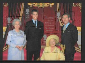 """MINIATURE SHEET MS2161 """"QUEEN MOTHER 100th BIRTHDAY""""  MNH UM  FREE POST"""