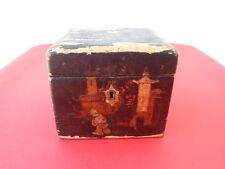 Superbe boîte à thé époque Napoleon III  E.G Paris décor Japonisant