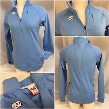 North Carolina Tar Heels Pullover Small Women Blue 1/4 Zip Fit Dry EUC YGI