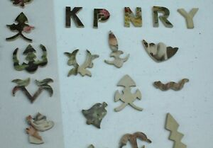 ANTIQUE Wooden Jigsaw Puzzle PARKER BROS Figurals PASTIME?? 250 PC Lot N
