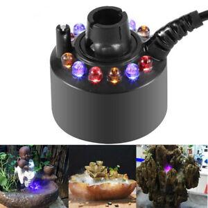 RGB 12 LED Ultrasonic Mist Maker Aquarium Atomizer Fish Tank Fogger Fountain