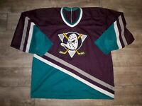 Vintage CCM Anaheim Mighty Ducks NHL Hockey Stitched Jersey Uniform Size XLarge