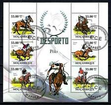 Chevaux Mozambique (47) série complète de 6 timbres oblitérés