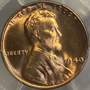 1940-P Lincoln Cent PCGS MS66RD Red Wheat Penny Gem UNC