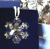 2010 SWAROVSKI ~Little SNOWFLAKE Mini Christmas ORNAMENT ~ Excellent - box w/Coa