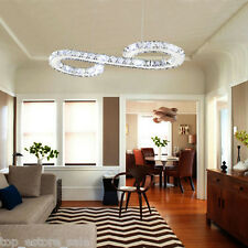 Modern Stylish LED Crystal Chandelier Chrome Ceiling Light Lamp Pendant Fixture