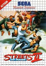 Framed SEGA Master System Game Print–Streets of Rage 2 (Gaming Arcade Classic)