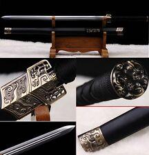 "HIGH QUALITY CHINESE SWORD ""HAN JIAN ""(劍)CARBON STEEL BLADE HANDMADE KATANA#188"
