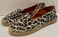 STELLA MCCARTNEY Cream Brown Black Leopard Print Summer Espadrille Shoes 40 UK7