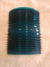 "Green/Blue Fresnel Glass Nautical Light Lens 7 1/4"" x 5"" Maritime Navigation"