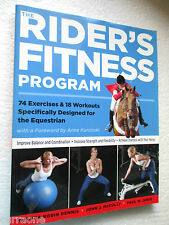 Horses:  THE RIDER'S FITNESS PROGRAM 74 exercises 18 workouts  LARGE softcover