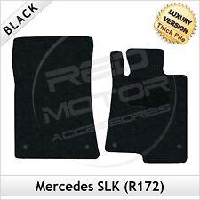 Mercedes SLK R172 2011 adelante Tailored de lujo 1300g Alfombra Tapetes Coche Negro
