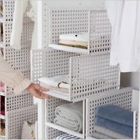 S/L Wardrobe Organizing Box Wardrobe Storage Folding Drawer Storage Basket