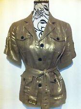 Michael Kors Jacket Gilded Belted Short Sleeve Ladies Size M(10-12) New