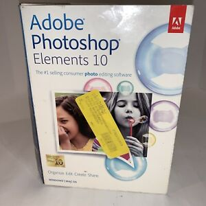 Adobe Photoshop Elements 10 for PC, Mac OS - Brand New Factory Sealed