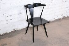 Paul McCobb Planner Group T-Back Black Lacquered Solid Maple Dining Chair