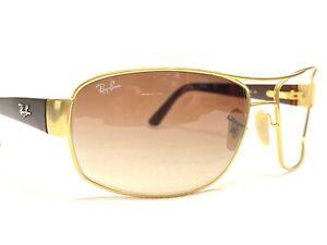 Ray Ban RB3503L 112/13 Men's Gold & Brown Aviator Sunglasses Frames 64/15~127