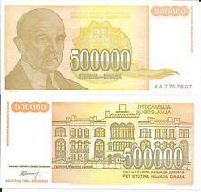 YUGOSLAVIA 500000 DINARA 1994 P 143