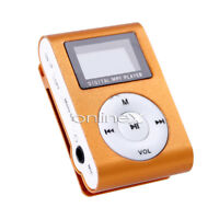 Reproductor Mini MP3 LCD con Enganche Clip, Music Player, Naranja a0434 nt