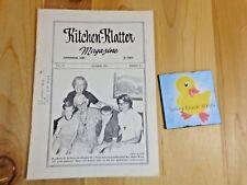 KITCHEN KLATTER Magazine OCTOBER 1973 Blue Basket Caper Maple Leaf Luncheon
