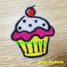 2 x cupcake patches cup cake kitchen apron iron sew on glue fabric chef cooking