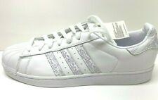 Adidas Size 12 White Leather Sneakers New Mens Shoes