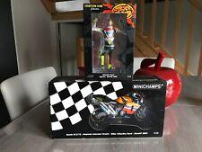 V Rossi 1/12minichampsHonda 2002 moto +figurine neuf