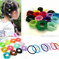 100pcs/lot Mixed Colors Baby Girl Tiny Hair Bands Elastic Ties Ponytail Holder