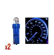 Speedo Bulbs 286 2x 12v 1.2w T5 5mm Super Bright Blue LED Wedge Car Dashboard