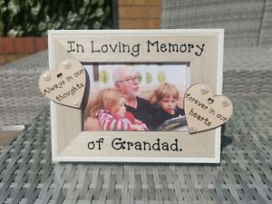 Personalised In Loving Memory photo picture frame Remembrance. Any Wording