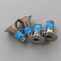 4pcs M5 x 12 mm Titanium Ti Screw Bolt Allen Hex Socket Flat Head Thread Locker