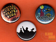 "Set of three 1"" Mystery Science Theater 3000 pins buttons MST3K crow tom servo"