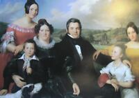 "perect 36x24 oil painting handpainted on canvas ""portrait of the family""@N12567"