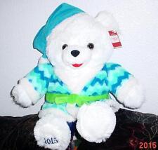 "2015 WalMART CHRISTMAS Snowflake TEDDY BEAR White A Boy 20"" Blue Outfit NWT.Nice"