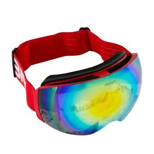 Snow Winter Outdoor Ski Goggles Anti-UV Double-Layer Lens Red For Snowboad