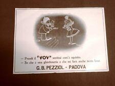 Pubblicità del 1924 Liquore VOV G.B. Pezziol Padova