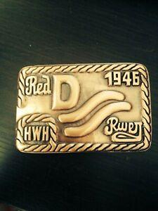 John Wayne BRASS Red River D Brand Belt Buckle Movie Westerns Howard Hawks