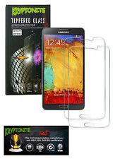 2x Pack KRYPTONITE Protectores de Pantalla de Vidrio Templado para Galaxy Note 3