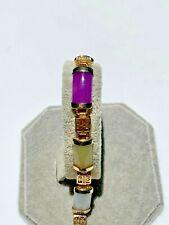 """Multi-Color Jade ~ Six Segment Bracelet ~ 7 3/4"""""""