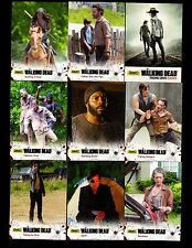 Walking Dead season 4 part 1 94 card mini master set  base + 22 insert +WRAPER