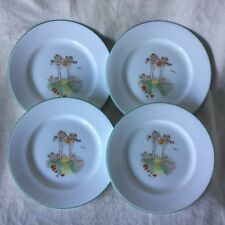 "4 X SHELLEY CHINA CORNFIELD 7"" TEA/SIDE/BREAD & BUTTER PLATES VERY VERY GOOD"